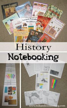 History notebooking ~ test mapping! Great idea for gathering all of the little bits of information from several different books.