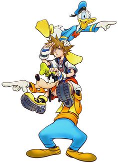 Donald, Sora & Goofy | Kingdom Hearts | Square Enix | Disney Interactive Studios
