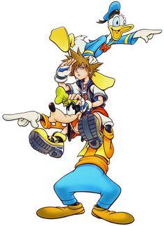 Donald, Sora & Goofy   Kingdom Hearts   Square Enix   Disney Interactive Studios