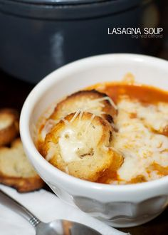 Warm and thick lasagna soup. Perfect for fall! Use real mozzarella and serve with some garlic bread. bigredclifford.com
