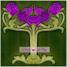 Image result for art nouveau violets
