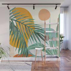 Mural Painting, Mural Art, Wall Murals, Kids Room Paint, Room Decor, Wall Decor, Painted Leaves, Wall Patterns, Room Colors