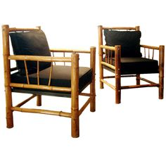 Shop armchairs and other antique and modern chairs and seating from the world's best furniture dealers. Bamboo Sofa, Bamboo Furniture, Deck Furniture, Furniture Design, Diy Projects For Bedroom, Unique Sofas, Patterned Armchair, Bamboo Crafts, Sofa Chair