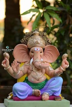 Jai Ganesh, Ganesh Lord, Ganesh Idol, Shree Ganesh, Shri Ganesh Images, Ganesha Pictures, Eco Friendly Ganesha, Ganpati Picture, Happy Ganesh Chaturthi Images