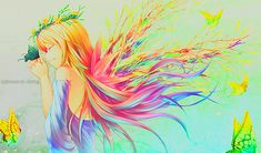 brightly coloured anime girl - Google Search