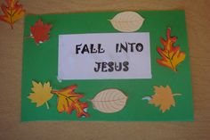 fall for jesus crafts for toddlers | Fall into Jesus | Kids Crafts/Activities