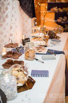 Homemade cookie bar for wedding guests. Prince Edward Island Fall wedding.