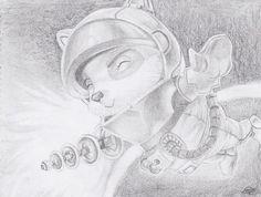 Afbeeldingsresultaat voor draw astronaut