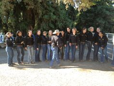 Lining up the team for introduction at the sale!