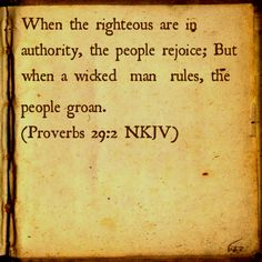 Proverbs 29:2 NKJV