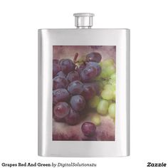 Grapes Red And Green Hip Flasks