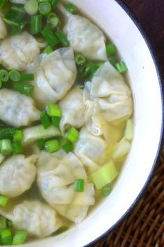 Miso Wonton Soup - A warm nourishing soup in 15 minutes!