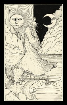 """My version for the The Fool, the card 0 of the standart tarot. """"The Egg is the sum of Zero. He who is hard outside, and soft inside. The Fool is the egg itself, who see the origin in a funny way. H..."""
