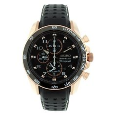 Seiko Men's SNAE80 Leather Synthetic Analog Black Watch Seiko. $320.00. Case diameter: 45 mm. Chronograph watch, stainless steel case. Scratch resistant synthetic sapphire. Quartz movement. Water-resistant to 100 M (330 feet)