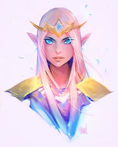 Drawing Zelda for this week's episode! Wanted to continue the Legend of Zelda theme for another week ✨⚔