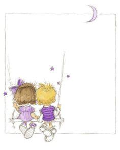 Children's World I Art Print by Annabel Spenceley