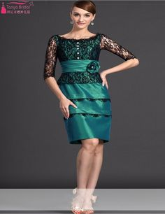 Find More Evening Dresses Information about Real Photos Mother Of The Bride Dress Half Sleeves Lace Teal Green Wedding Mother Evening Dresses Custom Made Plus Size Cheap,High Quality dress size chart,China size 4 dress measurements Suppliers, Cheap size 30 dresses from Tanya Bridal Store on Aliexpress.com