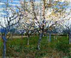 The Pink Orchard / Vincent van Gogh - 1888