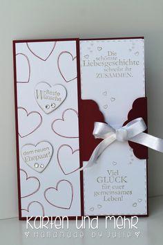 Stampin' Up! Glückwunschkarte zur Hochzeit Hearts a Flutter www.handmadebyjulie.de