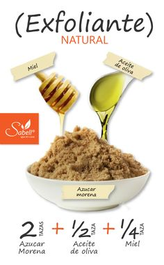 Elimina las células muertas de la epidermis con esta sencilla mezcla de ingredientes,