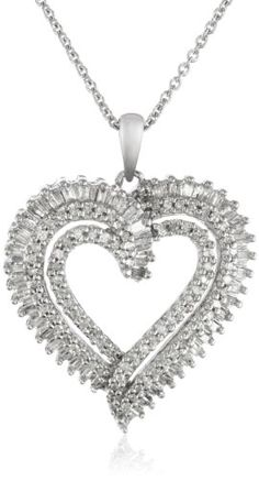 Sterling silver diamond heart pendant necklace top 10 the best sterling silver diamond heart pendant necklace top 10 the best necklace for women in 2015 reviews pinterest diamond heart silver diamonds and diamond mozeypictures Images