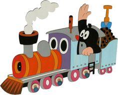 Dekorace do pokojíčku | dřevěné věšáčky DoDo | 3 věšáček DoDo Krtek na lokomotivě | BABY-MIMINKO - dětské ložní povlečení, plážové osušky, dětské cestovní kufry ABS, školní batohy La Petite Taupe, Cartoon Characters, Fictional Characters, Vintage Children, My Childhood, Minnie Mouse, Family Guy, Toys, Illustration