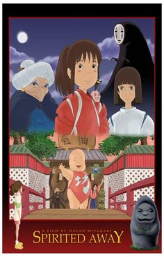 A great poster from Spirited Away - the award-winning anime movie from Hayao Miyazaki and Studio Ghibli! Ships fast. 11x17 inches. Check out the rest of our amazing selection of Hayao Miyazaki posters