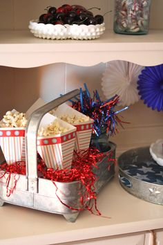 Decor Thrift Vintage Milkglass Patriotic Decorations Decor American Decor