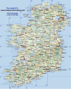 map of Counties in Ireland   This county map of Ireland shows all 32 ...