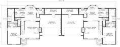 First Floor Plan of Multi-Family Plan 62363