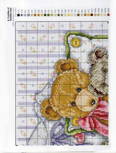 Gallery.ru / Фото #73 - Teddies - mornela Cross Stitch Baby, Cross Stitch Animals, Felt Embroidery, Cross Stitch Embroidery, Cross Stitch Designs, Cross Stitch Patterns, Everything Cross Stitch, Cross Stitch Pictures, Craft Patterns