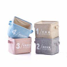 Creativa caja de almacenamiento de la ropa de la cesta plegable del caso de las misceláneas de escritorio organizador titular del hogar