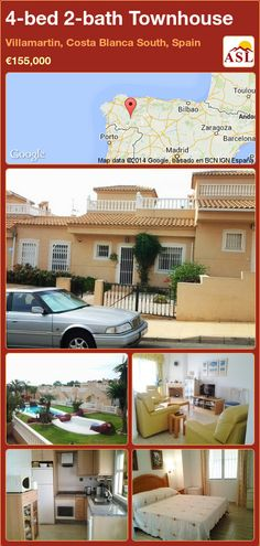 4-bed 2-bath Townhouse in Villamartin, Costa Blanca South, Spain ►€155,000 #PropertyForSaleInSpain