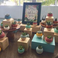 Let it Grow succulent guest favors, event by Top It Off Designs