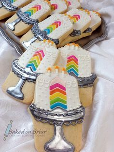 Allison Quirk Barrett created these rainbow birthday cake cookies, which were finalists in Cookie Connection's Best Cookies of 2013 competit...