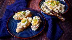 Pokud patříte k milovníkům hermelínové pomazánky, důrazně doporučujeme vyzkoušet tuhle luxusní verzi. Potato Salad, Grains, Recipies, Potatoes, Eggs, Lunch, Fresh, Meat, Chicken