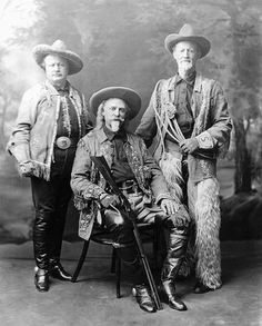 Buffalo Bill , Pawnee Bill and Buffalo Jones      (Not outlaws, but personalities of the Old West)