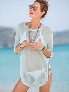 Cheap Light Green High-low Hemline Sheer Beachwear online - All Products,Sexy Swimwear,Cover-Ups & Beach Dresses Swimwear Cover Ups, Swimsuit Cover Ups, Swim Cover, The Bikini, Sexy Bikini, Summer Wear, Summer Outfits, Beach Outfits, Summer Clothes