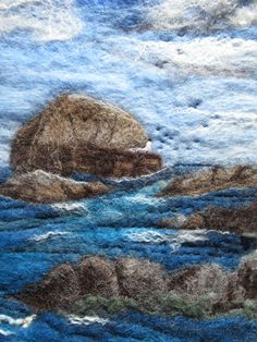Original hand-felted wallhanging. See more by LittleDeb on Pinterest, Facebook and Etsy. Wet Felting, Needle Felting, Felt Wall Hanging, Rock Hand, Postage Rates, Lavender Bags, Felt Ball, Green Cotton, Brown And Grey