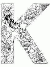 alphabet animal k