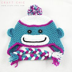 Sock_monkey_hat_free_pattern_by_craft_chic__1__small2  ~ Link correct and pattern is FREE when I checked on 29th March 2015   USA terminology