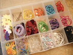 Call Her Blessed: Organizing Hair Accessories. I have used these for my girls...it works great!