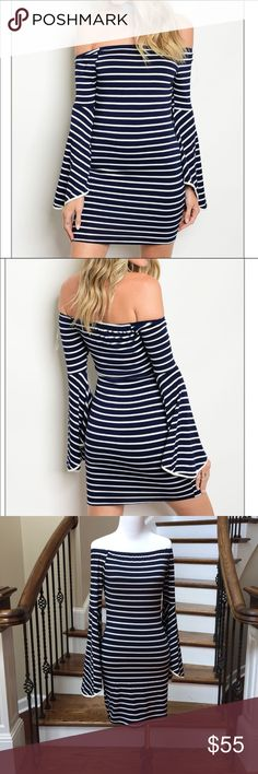 NWT Off-Shoulder Dress This must-have dress is made of a lightweight knit  that is so soft. Body of the dress is fully lined 43babebbc