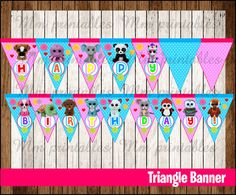 80% OFF SALE Beanie Boo's Triangle Banner instant download, Printable Beanie Boo…