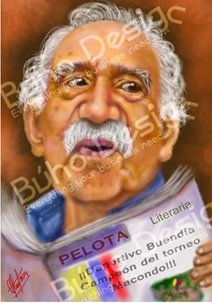 Caricaturas Gabriel García Márquez By Búho Design & Caricatiras Uruguay  http://www.buhodesign.com.uy/ http://www.caricaturasuruguay.com.uy/