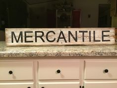 MERCANTILE barn wood sign, fixer upper sign, farmhouse sign, farmhouse decor, fixer upper decor, hand painted wood sign, trading post by ASmidgeofCharacter on Etsy
