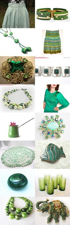 It's Green they Say, On the Far Side of the Hill!  - VogueTeam Pay It Forward by Debi on Etsy--Pinned with TreasuryPin.com
