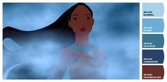 Paint colors from Chip It! by Sherwin-Williams. Inspired by Disney Pocahontas.