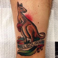 More #fairdinkum #kangaroo tattoos by @marklording (at Vic Market Tattoo)