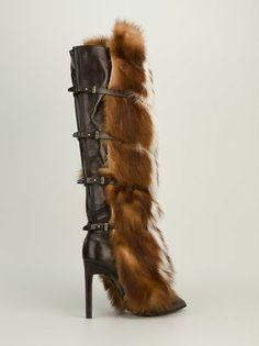 ROBERTO CAVALLI - fox fur trimmed boot 9